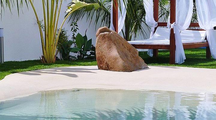 Como construir piscina com areia compacta